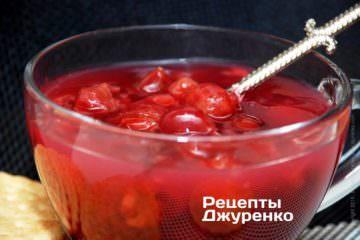 Вкусный вишневый десерт