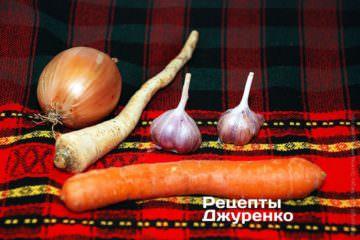 Овочі для навару і часник