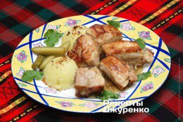 Фото рецепта тушеные свиные ребра в пряном соусе