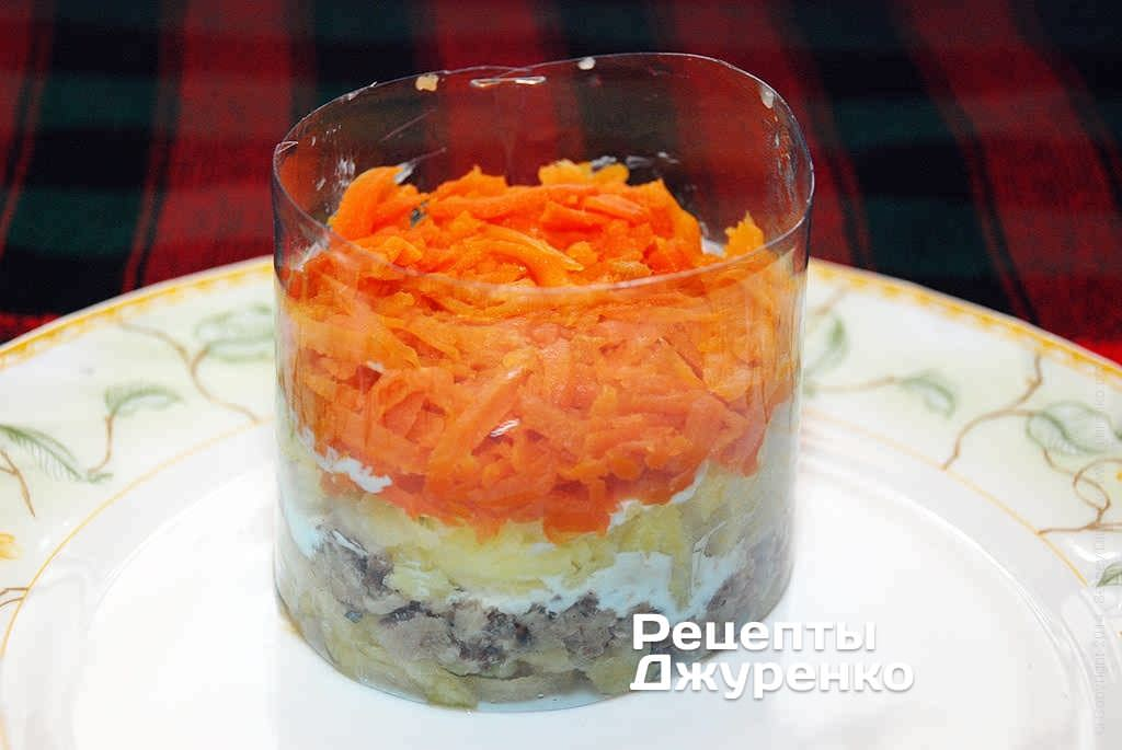 Морковка в салате.