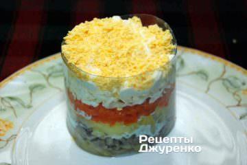 Шаг 8: посыпать яичным желтком