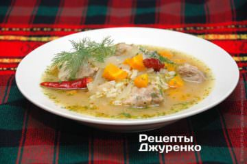 Суп из свинины