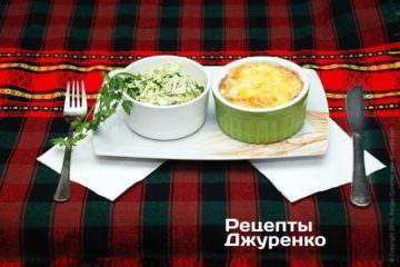 гриби з салатом з капусти