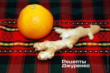 Апельсин і імбир для соусу