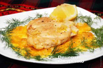 Курица с имбирем, апельсином с соевым соусом
