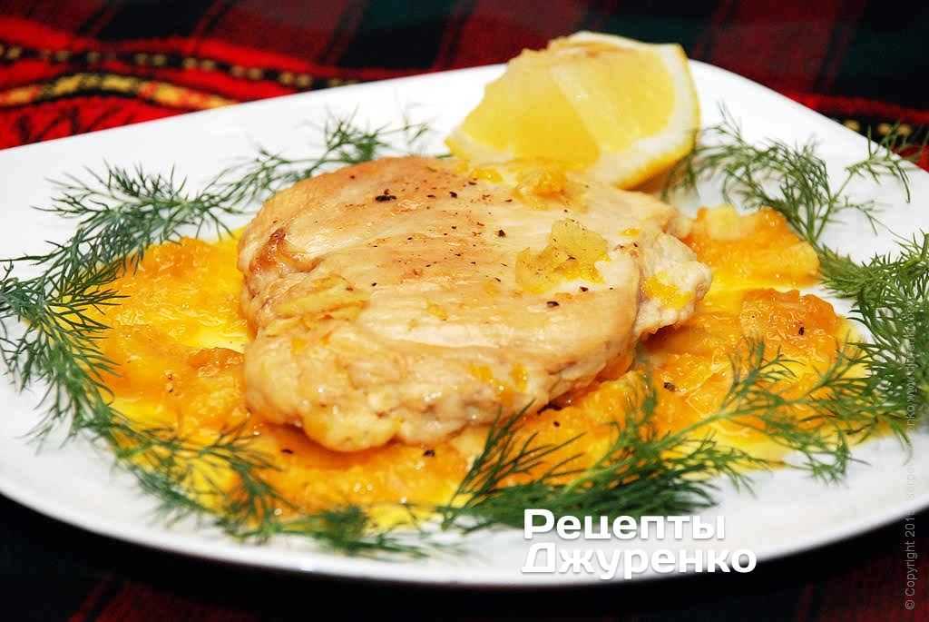 Курица с имбирем и апельсином