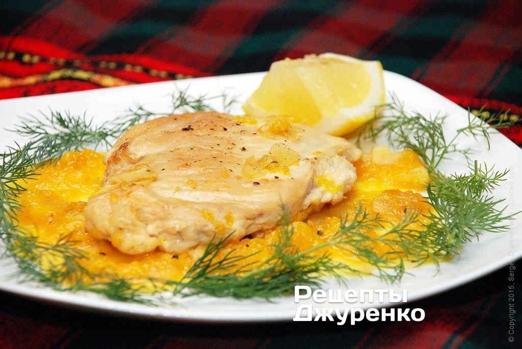 Фото готового рецепта курица с апельсином в домашних условиях