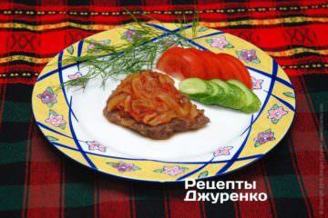 Фото рецепта сочная отбивная из говядины с соусом