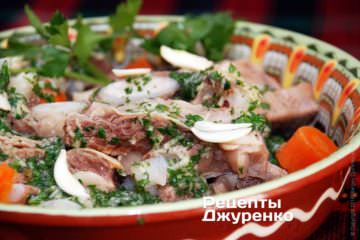 Фото рецепта хашлама — отварная говядина