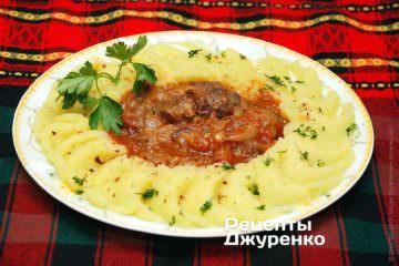 Фото рецепта мясо с подливкой