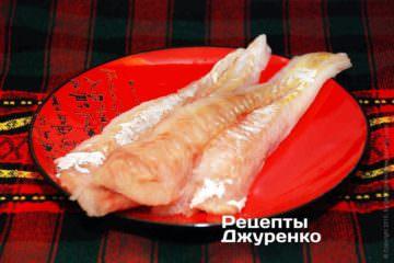 Філе тріски для рибного соусу