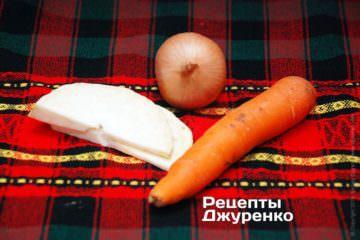 Отварить бульон из овощей