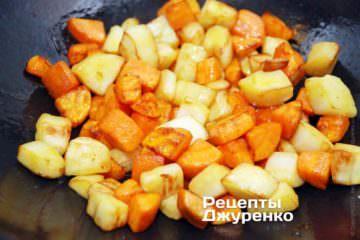морковку и пастернак обжарить