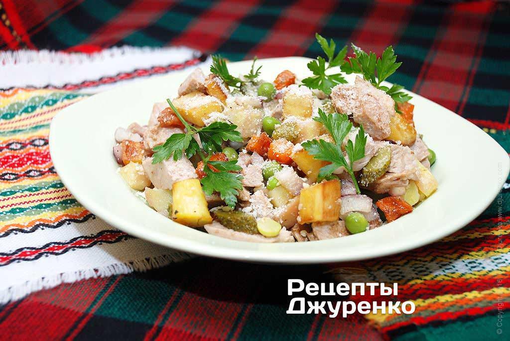 мясной салат фото рецепта