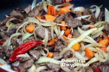 Жарить пока морковка не станет мягкой