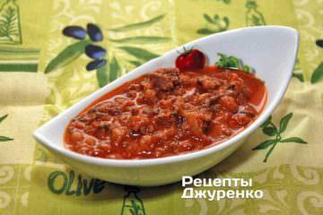 Фото рецепта соус болоньез