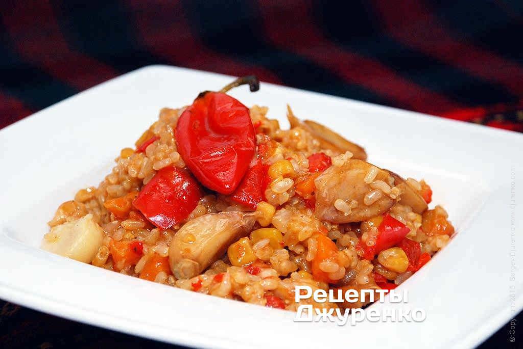 Фото готового рецепту коричневий рис в домашніх умовах