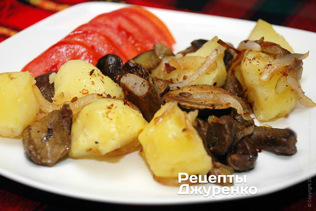 картопля з грибами фото рецепту