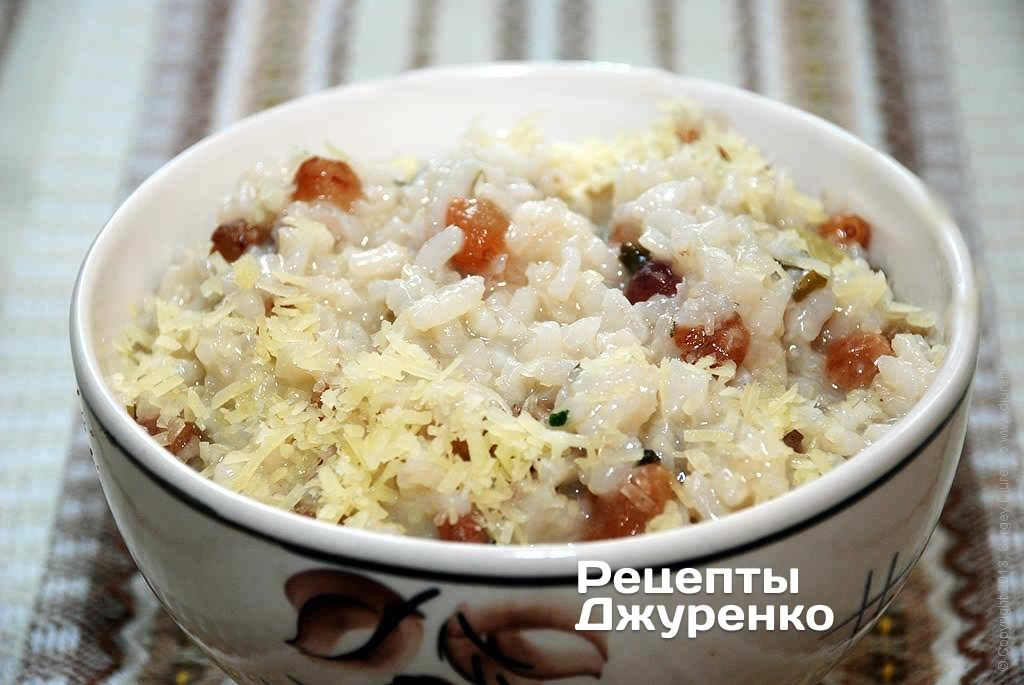 Рис с изюмом – ризотто по-венециански