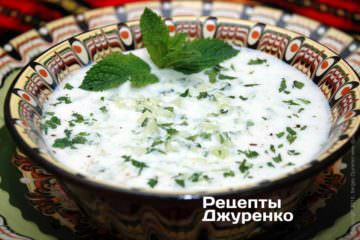 холодный кисломолочный суп