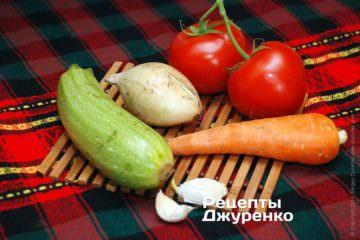 Молодые овощи для соуса