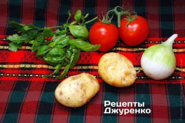 Овощи для запекания окуня