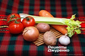 Овощи для супа из моллюсков