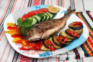 запечена риба з гарніром