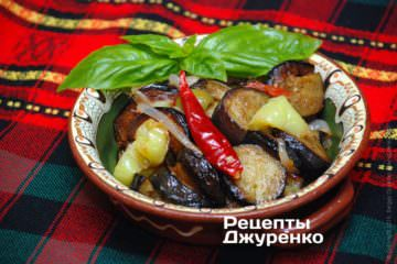 Фото рецепта капоната — закуска з овочів