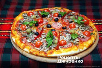 Фото рецепта домашня піца асорті