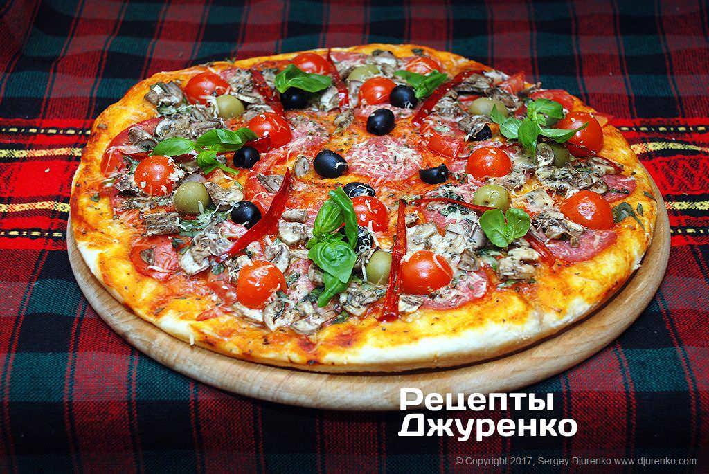 домашняя пицца фото рецепта