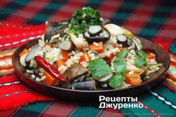 Фото рецепта каша з грибами