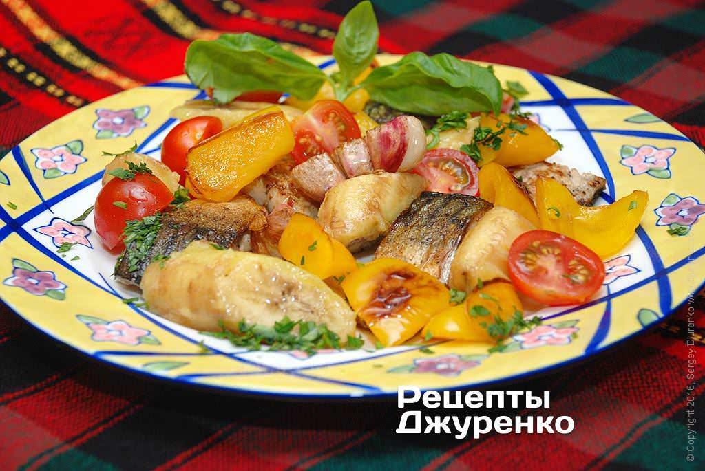 риба з овочами і фруктами фото рецепту