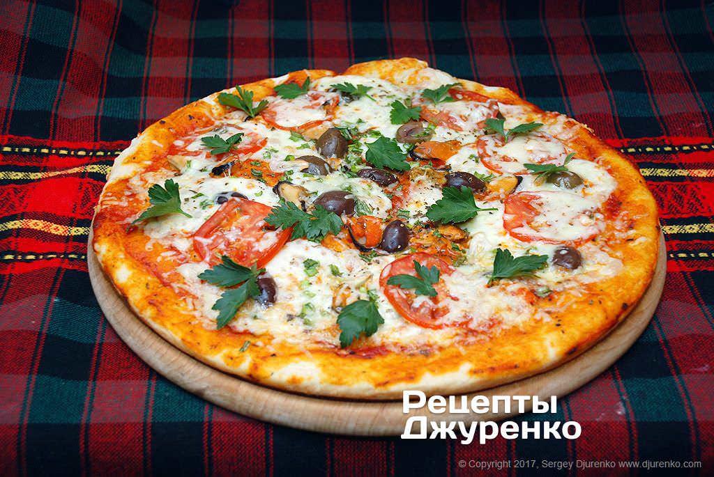 Пицца с мидиями рецепт с фото
