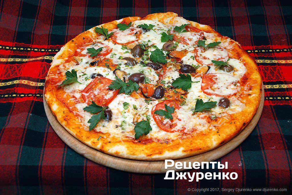Фото готового рецепта пицца с мидиями в домашних условиях