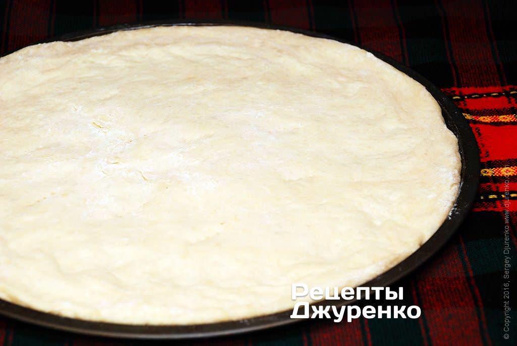 Как приготовить пиццу если тесто жидкое