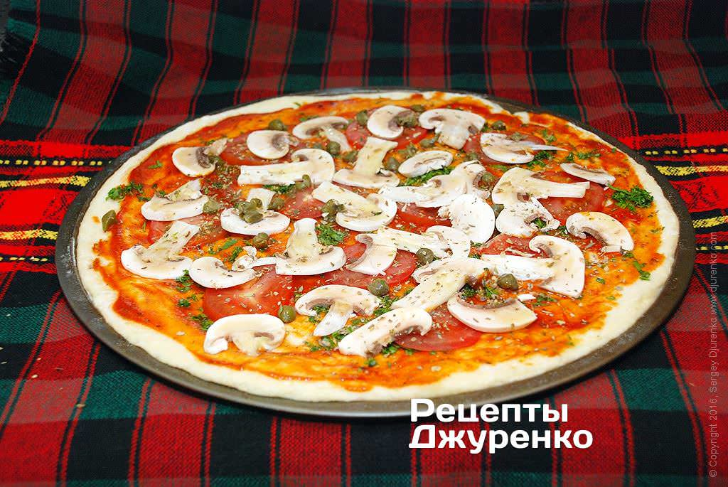 Пиццы с шампиньонами рецепт пошагово
