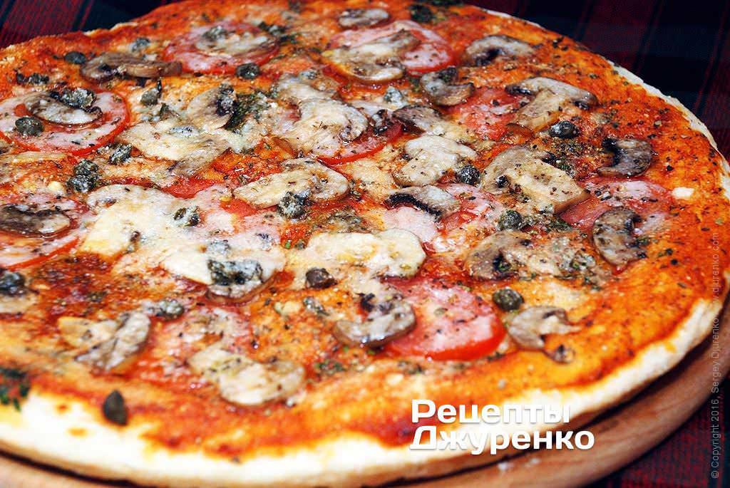 пицца с шампиньонами фото рецепта