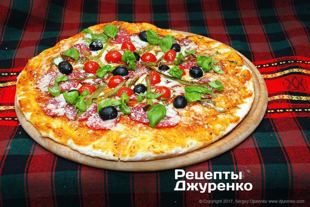 пицца с салями фото рецепта