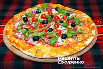 Фото рецепта пицца с салями