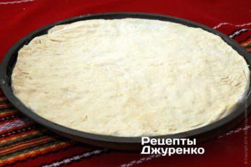 Для піци діаметром 34 см необхідно приготувати близько 400 гр тіста