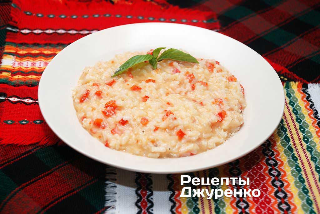 Фото готового рецепту Різотто з томатами в домашніх умовах