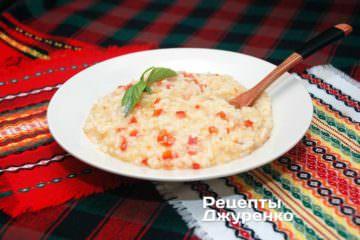 Фото рецепта різотто з томатами та перцем