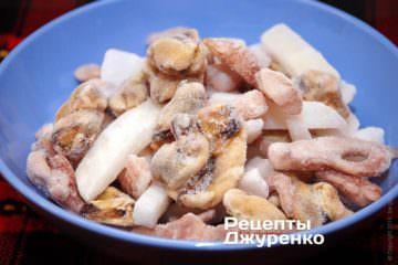 Замороженная смесь морепродуктов