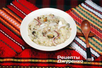 Фото рецепта різотто з морепродуктами