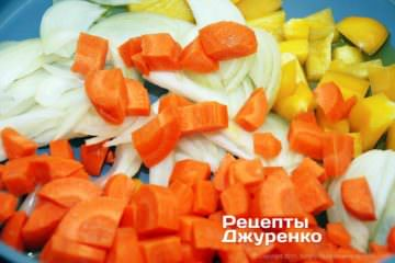 Очистити і нарізати овочі