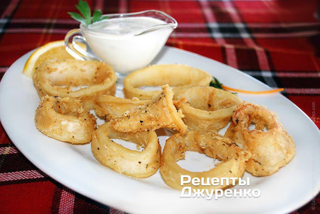 кальмари в клярі фото рецепту
