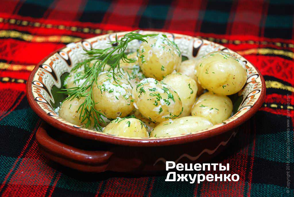 Фото готового рецепту молода картопля в домашніх умовах