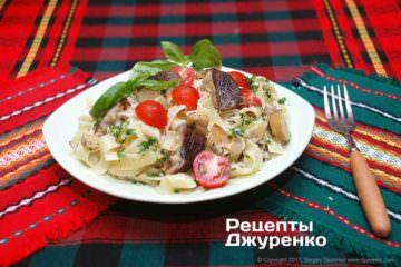 Фото рецепта паста з білими грибами