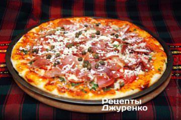 Фото до рецепту: піца з прошутто